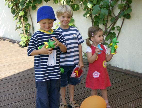 Luftballonwettbwerb 2006 - drei erste Sieger